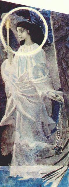 Михаил Александрович Врубель. Ангел с кадилом и свечей