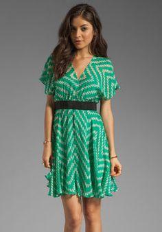 shopstyle.com: MILLY Zig Zag Print Chiffon Kimono Sleeve Dress