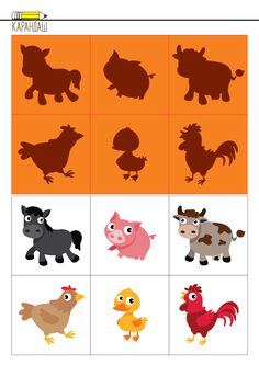 English Worksheets For Kindergarten, School Worksheets, Toddler Learning, Preschool Learning, Spy Games For Kids, Farm Activities, Animal Projects, Three Year Olds, Infant Games