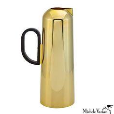 Polished Brass Tall Jug