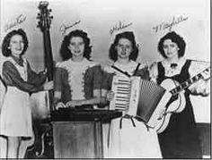 L-R: Anita Carter, June Carter Cash, Helen Carter Jones and Maybelle Addington Carter
