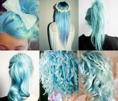 ♡ i really wish i could do this to my hair! But as it goes, my heart says YES...but my mom says NO. ♡
