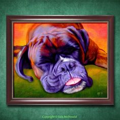 Boxer Dog Art Print Boxer Dog Painting 10x8 by ScottieInspired, $12.50
