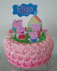 Bolo Fake Peppa, Bolo Da Peppa Pig, Tortas Peppa Pig, Aniversario Peppa Pig, Mermaid Cartoon, Rainbow Brite, 3rd Birthday Parties, Party Cakes, Cake Designs