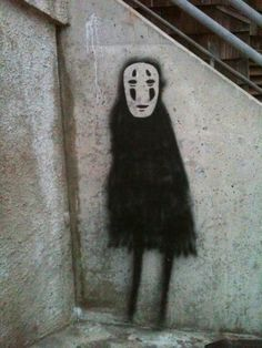 Spirited Away street Art. NO FACE! creepy but sweet