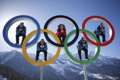Olympic Rings in mountains