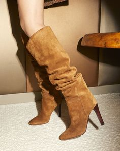 The HATTIE, crafted in sensual suede. Zanotti Heels, Giuseppe Zanotti Shoes, Heels Outfits, Wedding Heels, Luxury Shoes, Thigh High Boots, Strap Heels, Women's Shoes Sandals, Dress Shoes