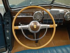 1941 Cadillac Series 62 Convertible: Steering Wheel View
