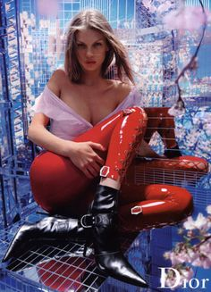 larastonesbitch:Angela Lindvall by Nick Knight for Christian Dior, Fall/Winter 2003