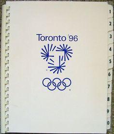 Toronto Olympic Bid Book (Softcover) Design: Gottschalk+Ash International Client: Toronto Olympic Committee Date: 1990 Typo Logo, Logo Branding, Typographie Logo, Brand Manual, Logos, Web Design, Book Design, Packaging, Graphic Design Typography