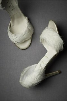 Never thought of using feathers on shoes