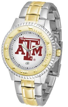 Texas A&M Aggies Men's Competitor Two-Tone Watch