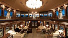 Saloon of motor yacht REBORN.