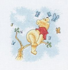 Disney Pooh & Butterfly Anchor Cross Stitch Kit DPPT010 16 Ct (Winnie the Pooh) #Anchor