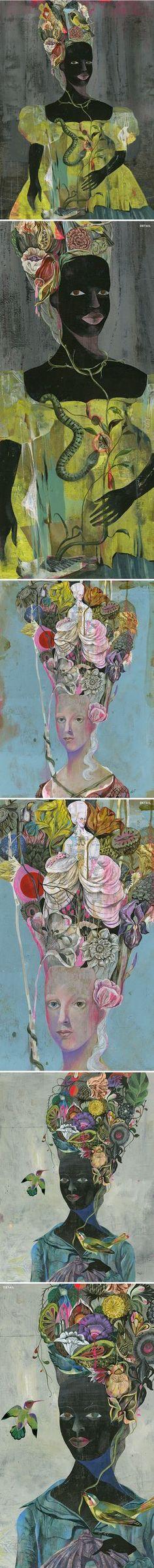 """""""Antoinette // Flowerheads"""" by Olaf Hajek"""