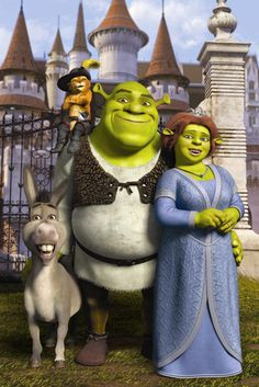The characters from Shrek would make a fun group costume