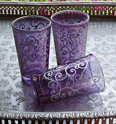 Jasmine Purple Tea Glasses