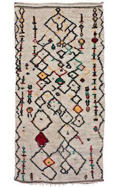 Moroccan Kemia Berber Shag Multi Rug