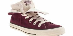 converse burgundy all star two fold hi shearling Converse Burgundy, Cosy, All Star, Converse Chuck Taylor, Me Too Shoes, High Top Sneakers, Stars, Winter, Fashion