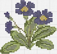 вышивка крестом цветы-мини схемы: 19 тыс изображений найдено в Яндекс.Картинках