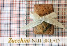 Zucchini Nut Bread - On Sutton Place