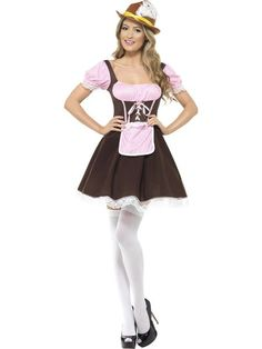 Buy Adult Oktoberfest Tavern Girl Costume, available for Next Day Delivery. Our Adult Tavern Girl Short Dress Costume comes complete with Brown and Pink Gingham Dress with attached Apron and Lace Trim.Outfit includes:Dress with attached . Girls Short Dresses, Party Dresses For Women, Dresses Dresses, Costume Shop, Costume Dress, Dirndl Dress, Oktoberfest Fancy Dress, Oktoberfest Halloween, Octoberfest Costume