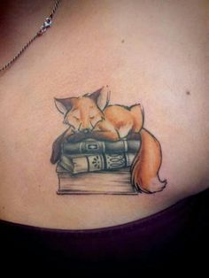 Fox tattoo by just inked (Nantes) love this, but with a cat instead of a fox: