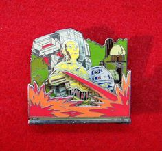 Disney Pin 53274 WDW LE Pin of the Month 3D Attractions Star Tours (Diorama)