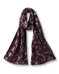 Velvet And Sequin Scarf Our Sequin and Velvet Scarf is the perfect evening accessory. Lift your look by pairing this with our Crepe Wide Leg Trousers and simple Bardot Top for a sophisticated evening style. Read more at http://www.east.co.uk/velvet-and-sequin-scarf--purple/#3BTDzmwTXq2EFgQB.99