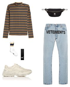 """Untitled #45"" by rayensulistiawan on Polyvore featuring STELLA McCARTNEY, Vetements, Gucci, Versus, Topman, Montblanc, men's fashion and menswear"