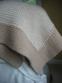 """The Hoover Blanket - """"The techniques used in creating Mrs. Hoover's blanket are really not difficult. If you can work ribbing and slip a stitch, you've got all the skills you need to try double-knitting. """""""