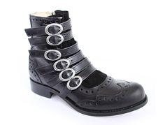 Fluevog Adrians Alli Boot in black John Fluevog Shoes, Shoe Department, Tall Riding Boots, Cool Boots, Shoe Shop, Black Boots, Me Too Shoes, Fashion Shoes, Black Leather