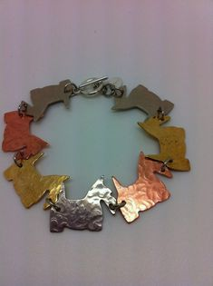 Handcrafted Scottie Scotty Dog Bracelet