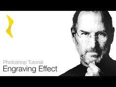 Photoshop Tutorial - Engraved Effect (Engraving Lines Action) Freebie - YouTube