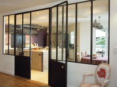 Verri res on pinterest cuisine atelier and glass walls - Cloison industrielle vitree ...