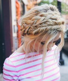 Chic Halo Braided Hairstyles 2018 for Prom