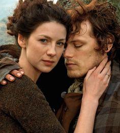 Jamie Fraser (Sam Heughan) & Claire Randall Fraser (Caitriona Balfe) from the Outlander series on Starz/ Amazon Prime UK