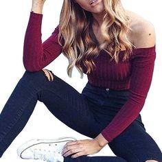 cbb73d35536af8 Skateboarding 2018 Women Autumn Varsity-Striped Drawstring Crop Hoodie  Sweatshirt Jumper Crop Pullover Tops Annhoo