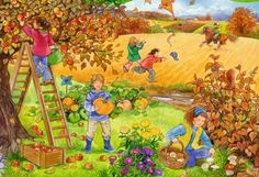 Ravensburger Lernpuzzle: 4 Jahreszeiten, 27 Teile Writing Pictures, Picture Writing Prompts, Preschool Decor, Preschool Activities, Four Seasons Art, Picture Comprehension, Sequencing Pictures, Picture Composition, Illustrator