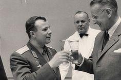Gagarin visits Carlsberg in Copenhagen.