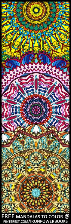 Follow @ironpowerbooks to have your free printable Mandala design. Or get whole books here: http://www.amazon.com/Mandalas-Color-Mandala-Coloring-Adults/dp/1496033418 http://www.amazon.com/Mandalas-Color-Mandala-Coloring-Adults/dp/149733716X http://www.amazon.com/Mandalas-Color-Intricate-Coloring-Advanced/dp/1495449017