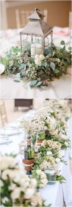 Greenery wedding decor ideas / #wedding #weddingideas #weddinginspiration #deerpearlflowers http://www.deerpearlflowers.com/greenery-wedding-decor-ideas/ #weddingdecoration