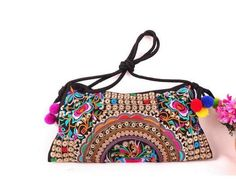 Free Shipping !New fashion embroidered bags small bag gorgeous embroidery one shoulder cross-body women's handbag fashion bags