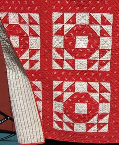 Antique Quilt red and white quilt
