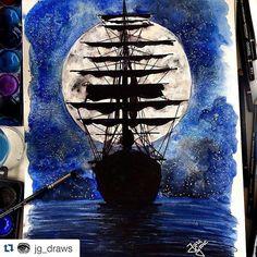 Instagram media desenhoscolorir - Perfeição! #Repost @jg_draws with @repostapp ・・・#desenhoscolorir ghost ship  #illustration #ilustração #drawing #watercolor #aquarela #art #jardimsecreto