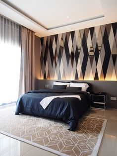 Feature wall adds to the overall perception of style.