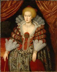 1619 Maria Eleonora of Brandenburg, Queen of Sweden by unknown (Nationalmuseum, Stockholm)