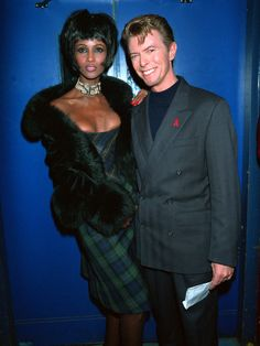Iman & David Bowie, AIDS Benefit Concert, London, 1993