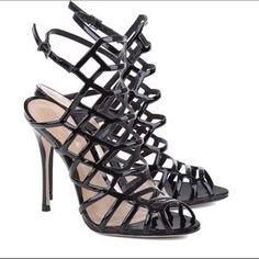 SCHUTZ Shoes | Final Markdown Caged Heels 7 Super Sexy | Poshmark Black Sandals, Gladiator Sandals, Black Shoes, Hot Heels, Sexy Heels, Caged Heels, 4 Inch Heels, Womens High Heels, Ankle Strap