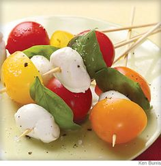 What a fresh, simple, yummy idea for a summer appetizer. I'm definitely hitting the farmers' market tomorrow morning.